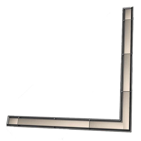 """Основа для плитки """"Plate"""" для слива, из нержавеющей стали, угловая, 1500мм 611570"""