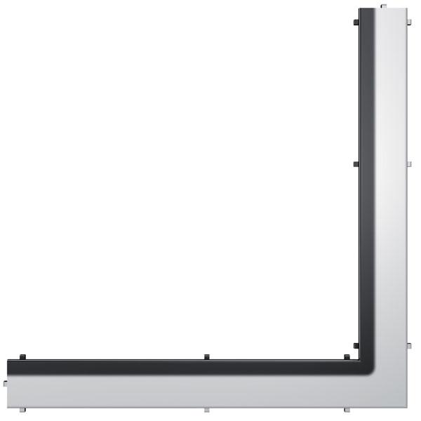"""Панель """"Steel II"""" для слива, из нержавеющей стали, угловая 1000мм, полированная. 611082"""