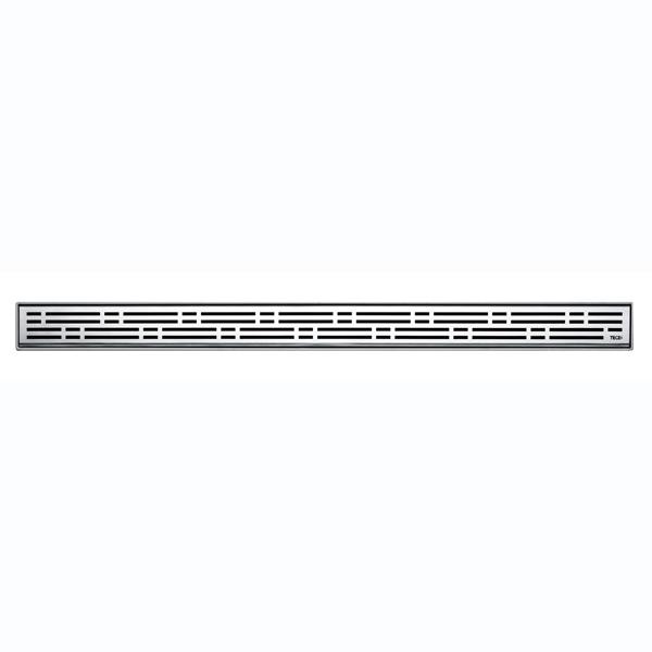 """Решетка для слива, из нержавеющей стали, прямая. """"Basic"""", 1000 мм. Матовая. 601011"""